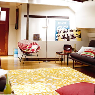 tapis jaune d'esprit home sur delamaison.fr