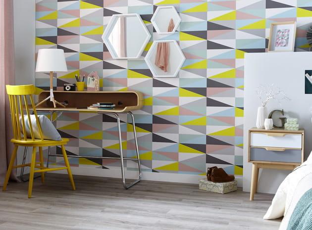 un papier peint pop. Black Bedroom Furniture Sets. Home Design Ideas
