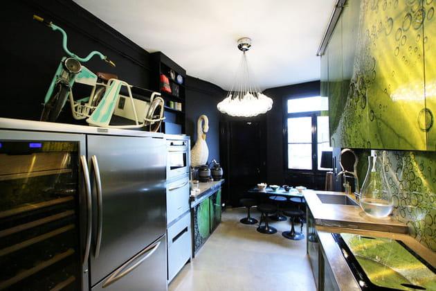 Cuisine noir et vert
