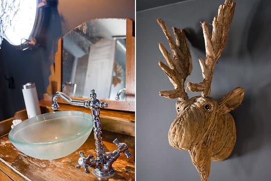 Vasque et tête d'élan