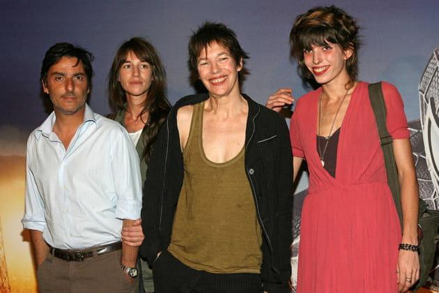Jane Birkin et ses filles Charlotte et Lou