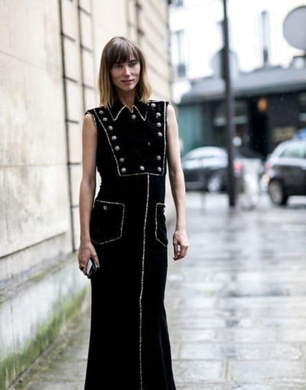 Street looks fashion week haute couture : officier