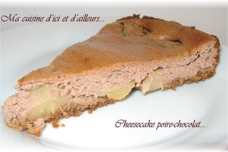 Cheesecake poire-chocolat