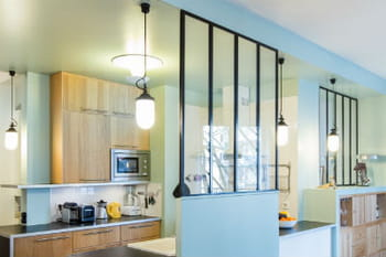 La cuisine avec verri re mi ouverte mi ferm e - Amenager cuisine ouverte sur salon ...