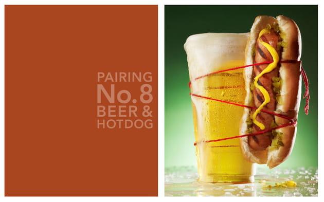 Bière et hot dog