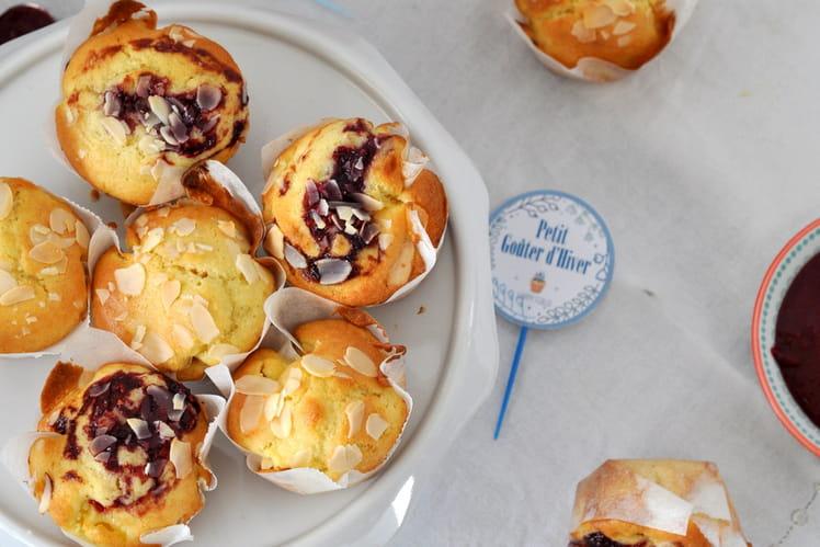 Muffins pomme amande confiture et Limonade fraise framboise