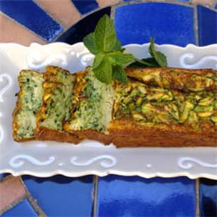 cake aux courgettes.