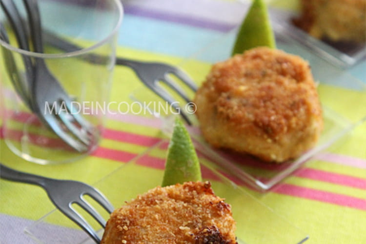 Croquettes de saumon à l'aneth et au citron