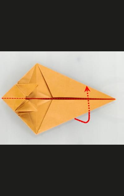 Origami chat - Etape 19