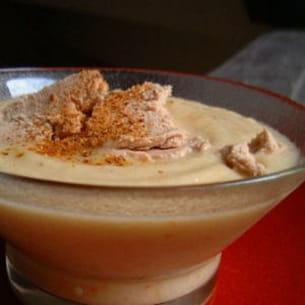 crème de chou-fleur aux copeaux de foie gras