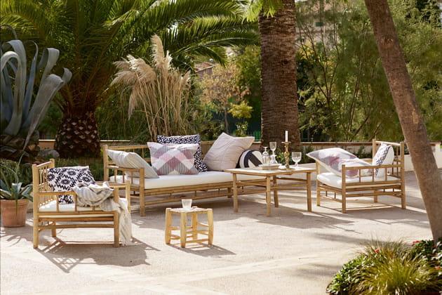 Salon de jardin en bambou Tine K Home