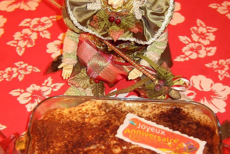 Tiramisu aux biscuits roses, spéculoos et rhum