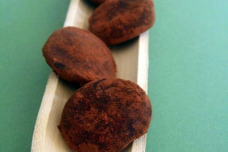 Truffes au chocolat noir inratables