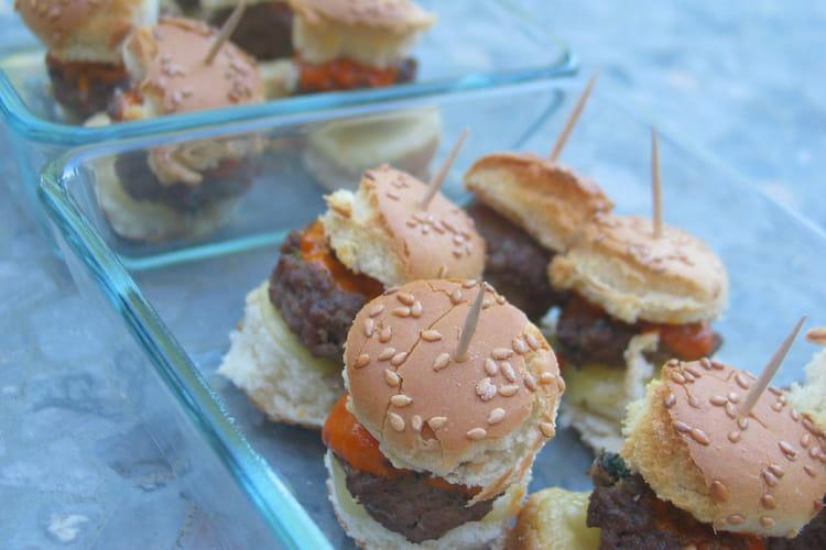 Mini hamburgers apéritifs