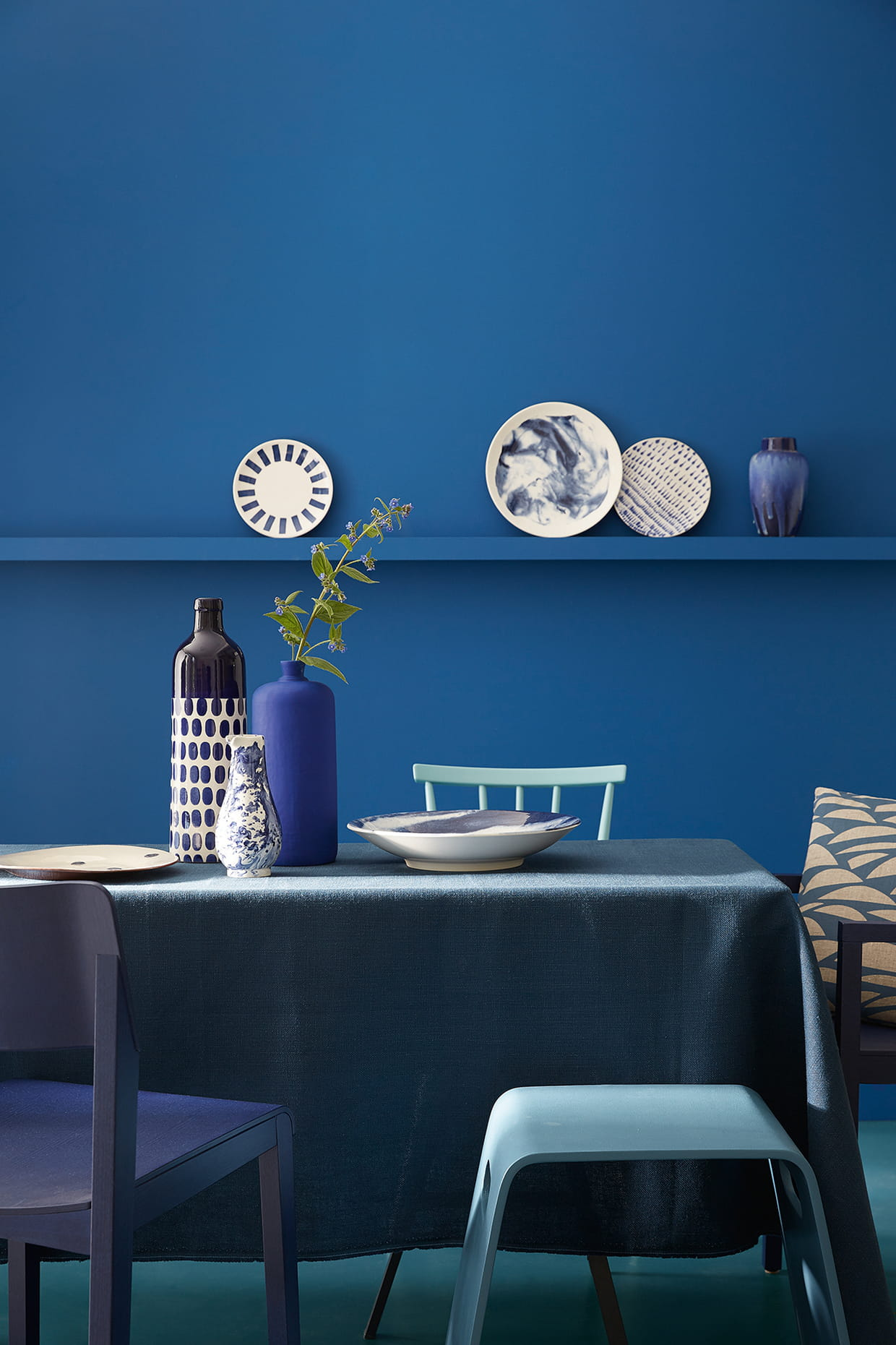 peintures nuances de bleu par little greene