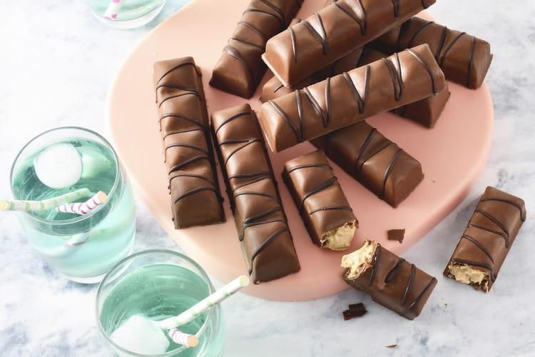 Barres chocolat praliné façon Kinder Bueno
