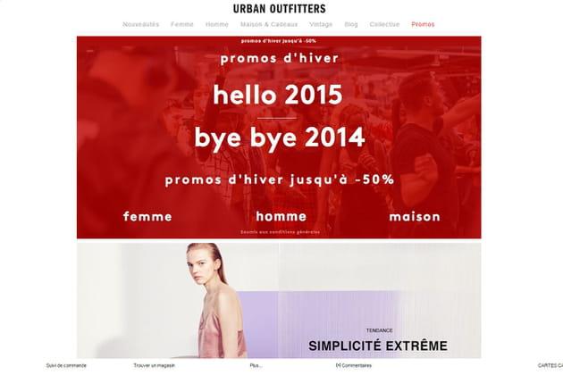 Le e-shop de Urban Outfitters