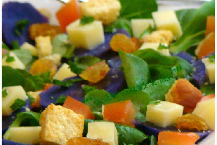 Salade de pommes de terre vitelotte au fromage Vauban