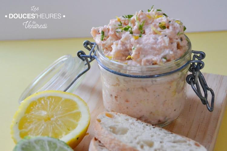 Recette de rillettes de saumon fromage frais et pomme - Cuisiner des harengs frais ...