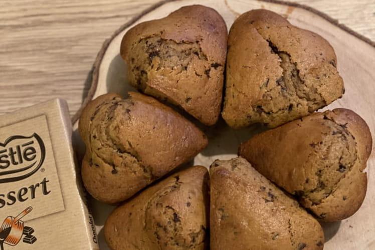 Muffins moelleux aux pépites de chocolat noir