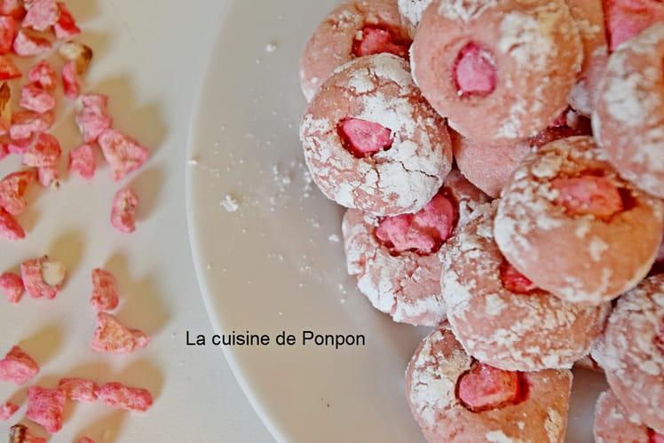 Amaretti arôme framboise et praline rose