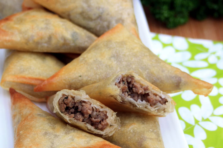 Samoussas au boeuf épicé : la meilleure recette