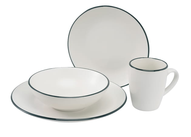 Vaisselle en noir et blanc