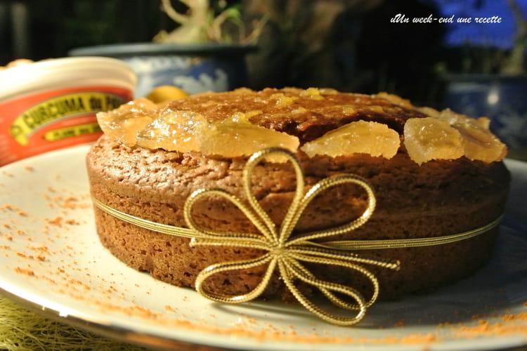 Gâteau au gingembre, curcuma et citron