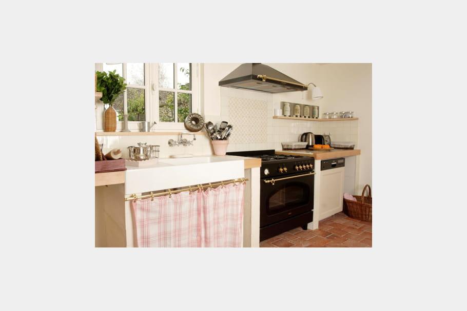 Une cuisine l 39 ancienne d co douceur la maison bleue for Deco cuisine a l ancienne