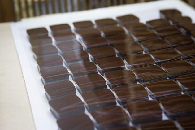 Reportage chocolatier Patrice Chapon : ganache