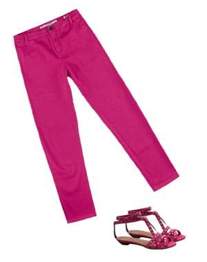 jean rose de zara et sandales 'avallon' de qsp+