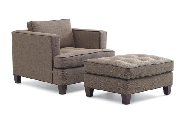 Un duo fauteuil et ottoman chic