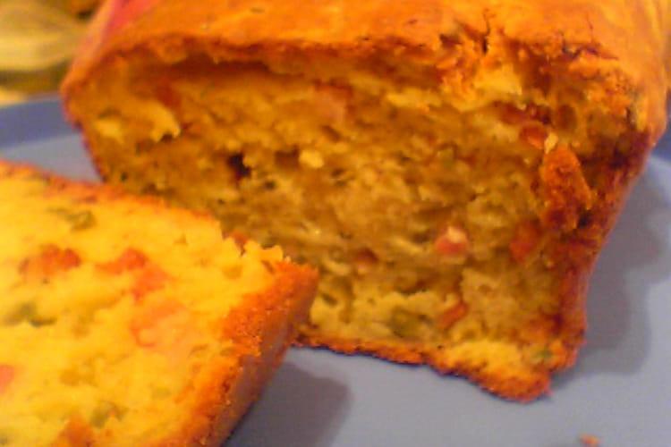 Cake lardons-mozza-olives