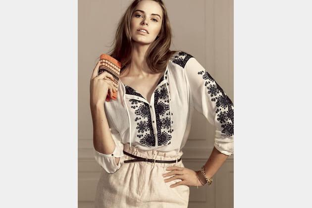 1863f4fa2b048f Violeta by Mango : la blouse et la jupe taille haute