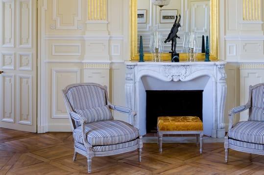 Un salon entièrement restauré