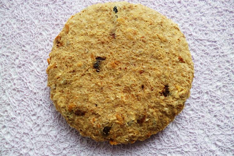 Cookie-cake protéiné amande au muesli fruits rouges