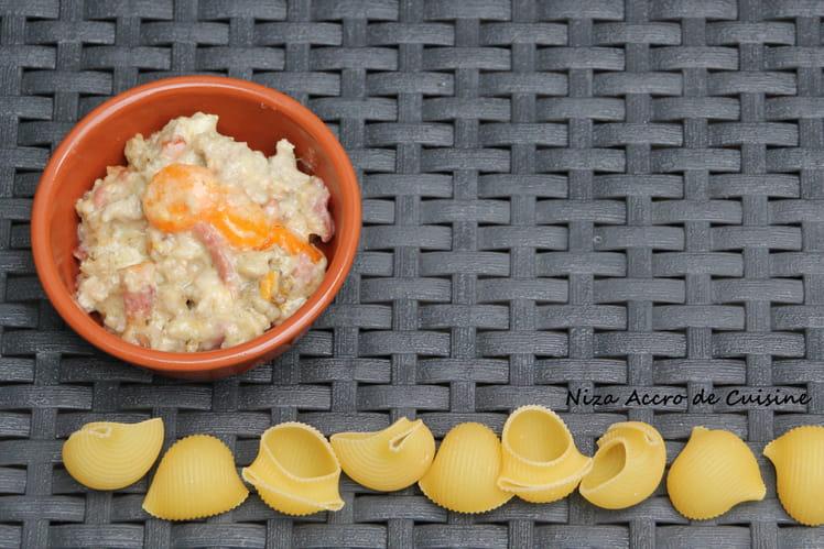Sauce aux carottes et petits lardons