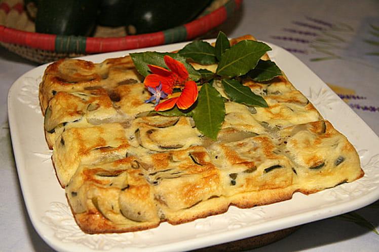 Flan de courgettes au parmesan