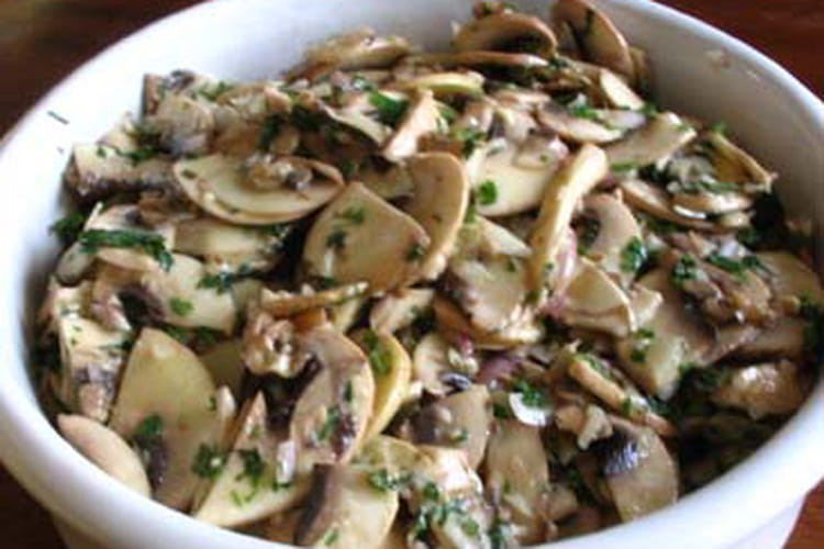 Salade de champignons de Paris