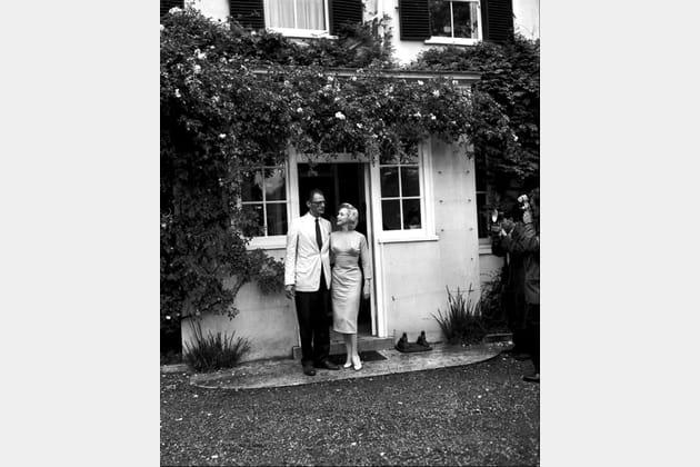 Avec son deuxième mari, Arthur Miller