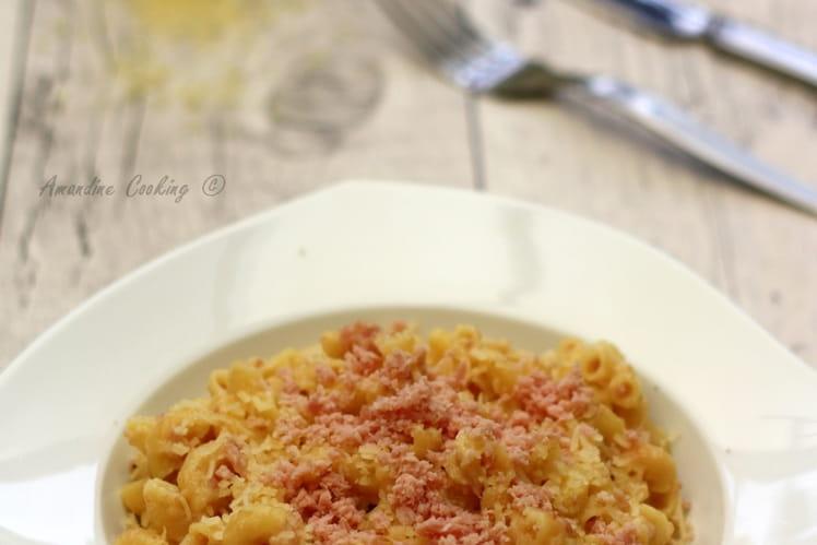 Coquillettes façon risotto ou pastasotto au jambon et fromage