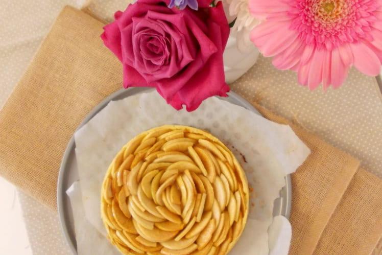 Tarte aux pommes à la compote au miel et à la cannelle