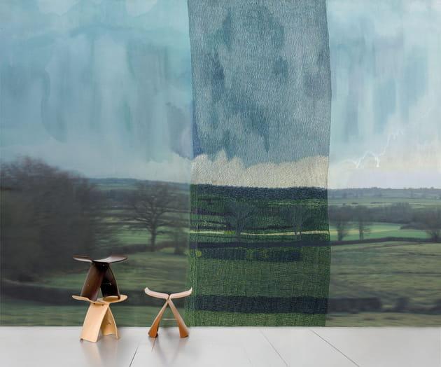 Papier peint De l'autre côté, le calme par Aurélie Mathigot chez Made in Design