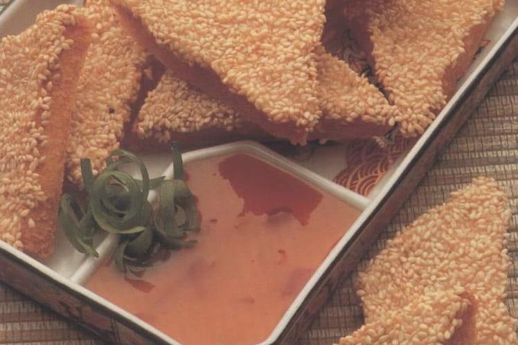 Canapés aux crevettes