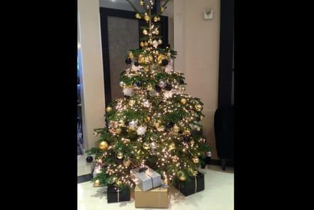 Le sapin de Noël de l'Hôtel Edouard 7
