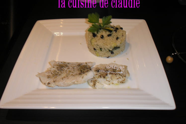 Filet de cabillaud et sa semoule