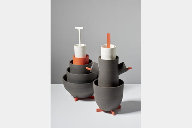 Porcelaine+Grès+Bois par Samuel Accoceberry et Kristiane Hink