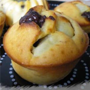 muffins poire et chocolat sans matières grasses.