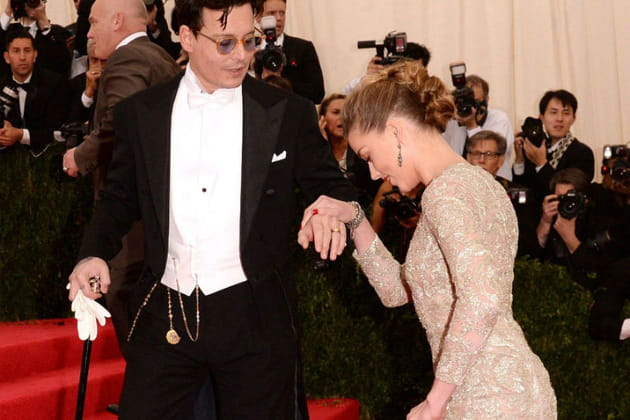 Johnny Depp et Amber Heard Met Ball 2014