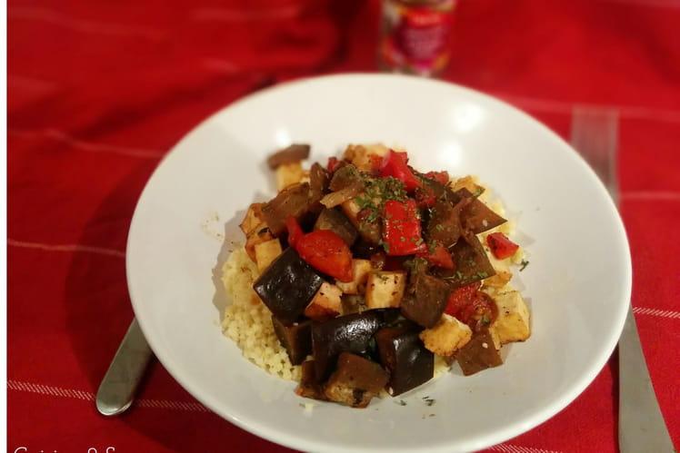 Poêlée de millet au tofu et aux légumes